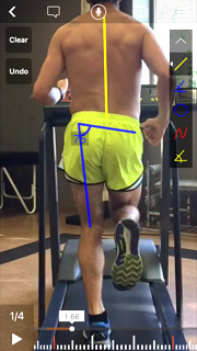 Man Running on treadmill for analysis